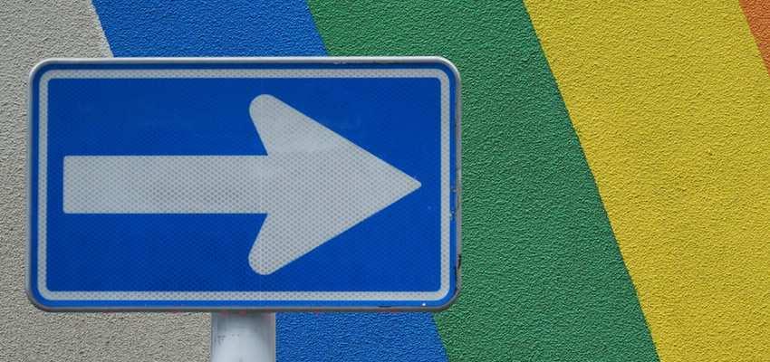 direction arrow pointing arrow