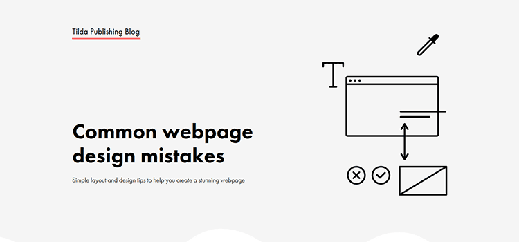 Common webpage design mistakes
