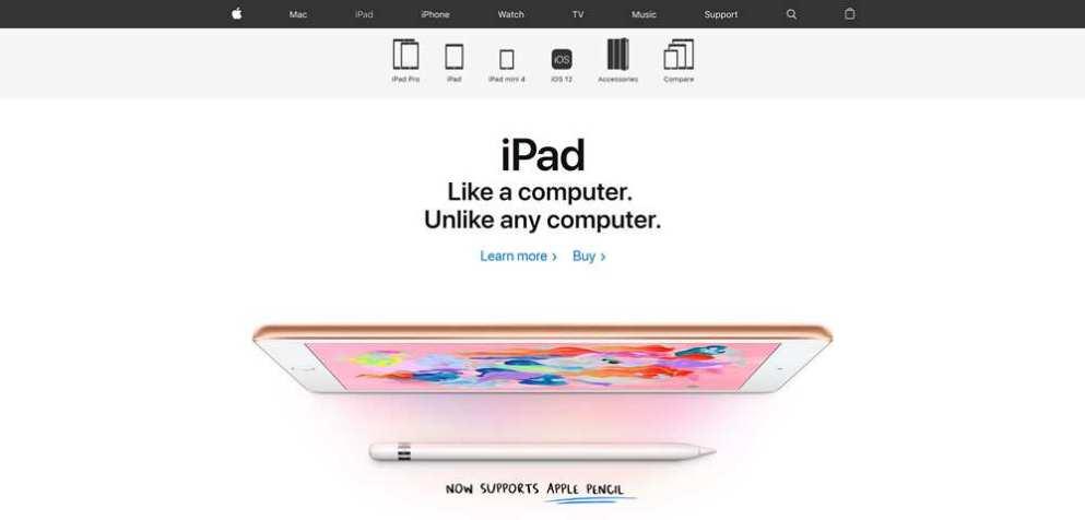 Apple iPad Homepage Negative Space Layout
