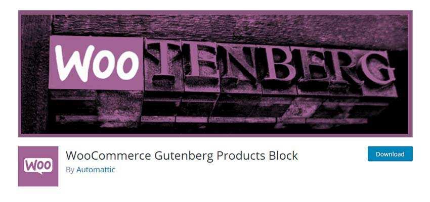 WooCommerce Gutenberg Products Block