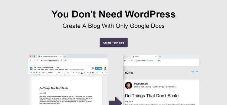 You Don't Need WordPress