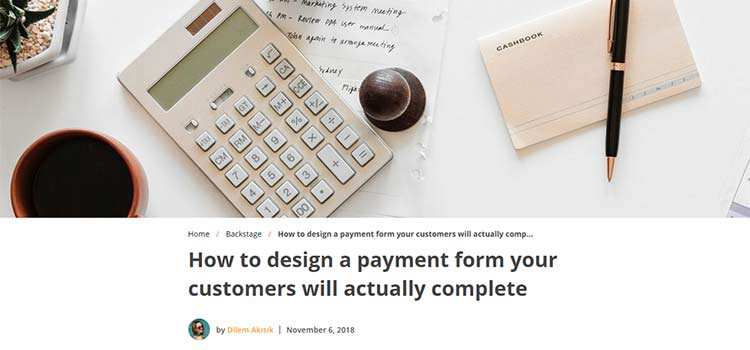 How to design a payment form your customers will actually complete