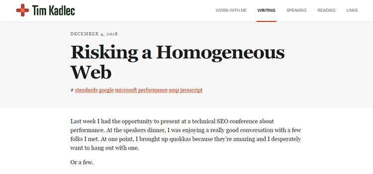 Risking a Homogeneous Web