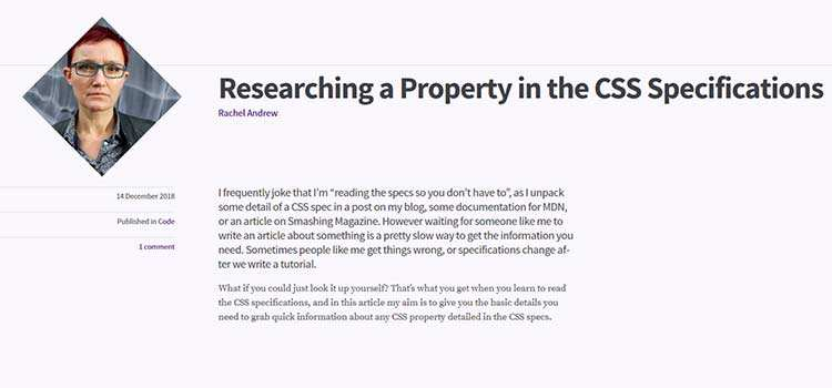 Researching a Property in the CSS Specifications