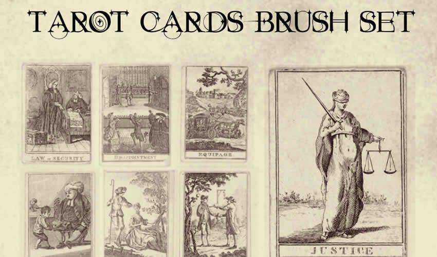Tarot Fortune Teller vintage antique adobe photoshop ps brush brushes abr pack set free