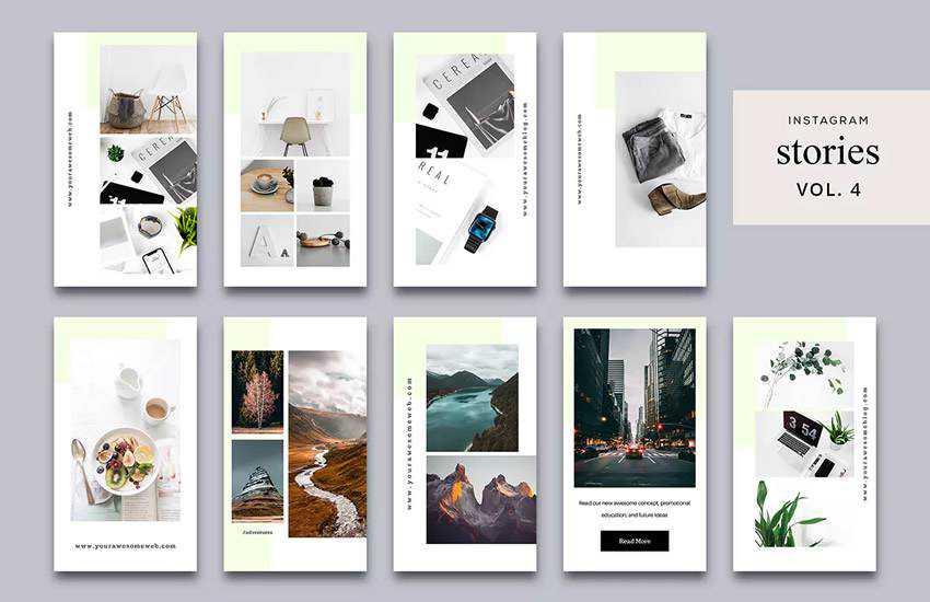 stories instagram social media template pack format Adobe Photoshop