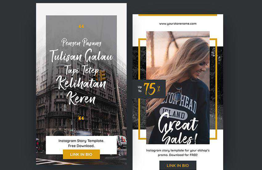 free stories instagram social media template pack format Adobe Photoshop