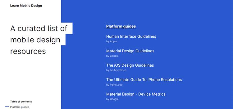 Learn Mobile Design