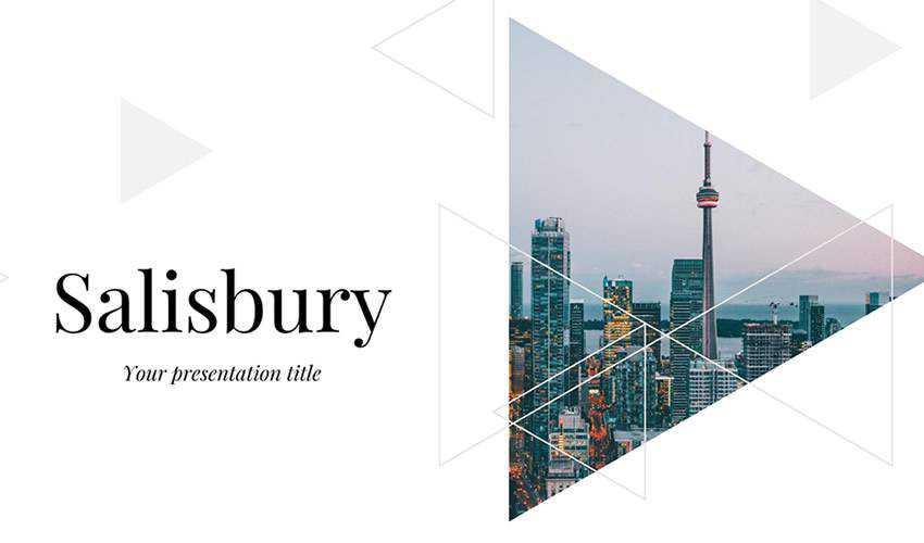 Salisbury google slides theme presentation template free
