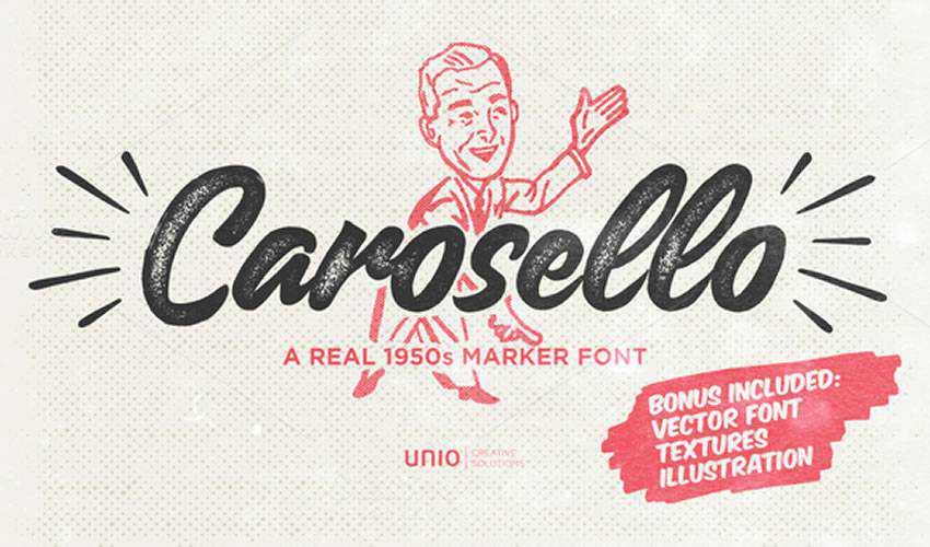 free font calligraphy typography script Carosello