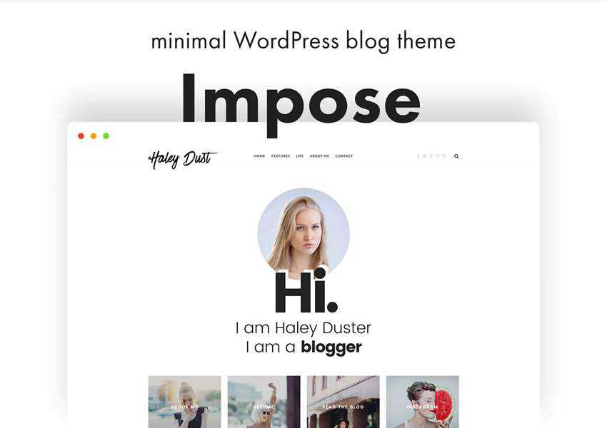 impose blogger wordpress theme template blog writer longform article