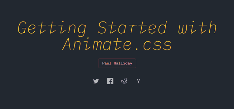Getting Started with Animate.css