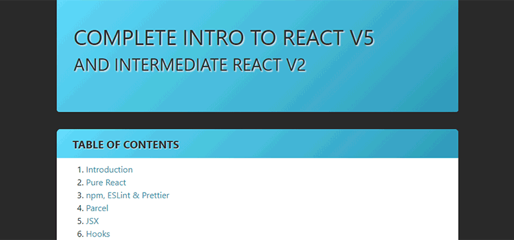 Complete Intro to React v5