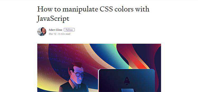 How to manipulate CSS colors with JavaScript