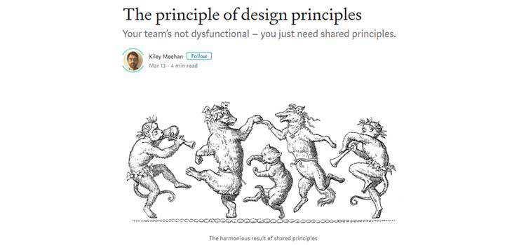 The principle of design principles