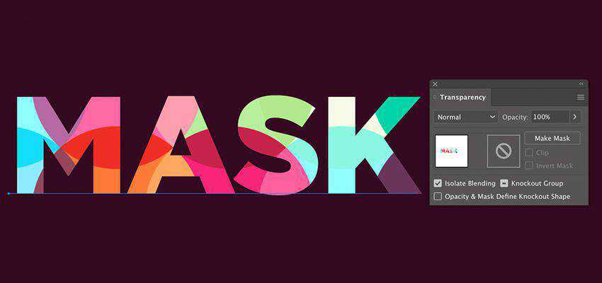 How to Create Colorful Pattern Masking adobe illustrator tutorial