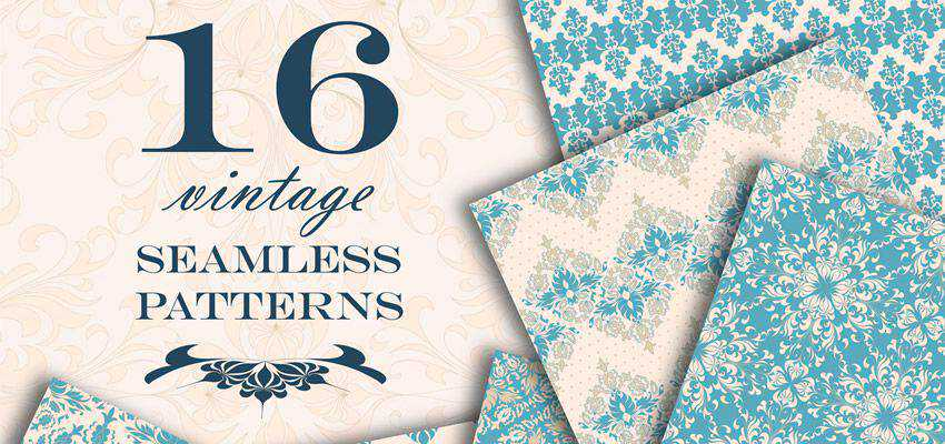 Vintage Seamless Patterns adobe illustrator