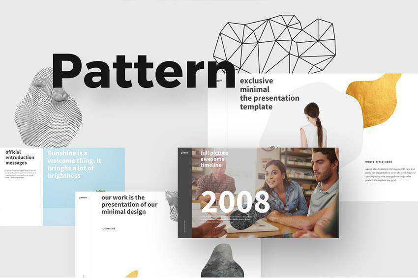 Free Pattern Powerpoint Template