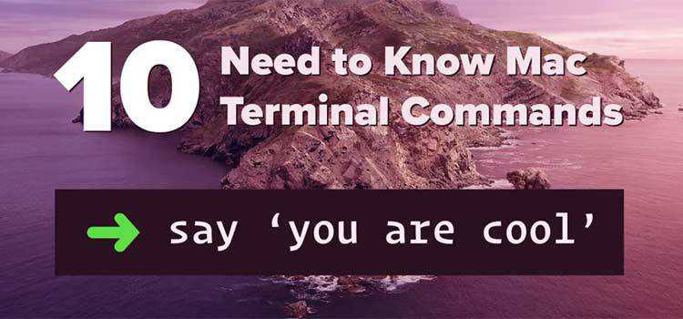 10 Need to Know Mac Terminal Commands