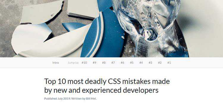 Top 10 most deadly CSS mistakes made by new and experienced developers
