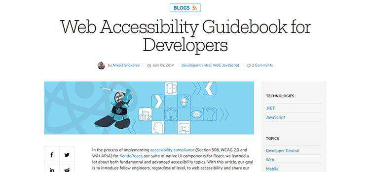 Web Accessibility Guidebook for Developers