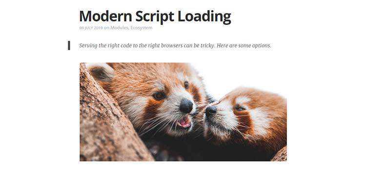 Modern Script Loading