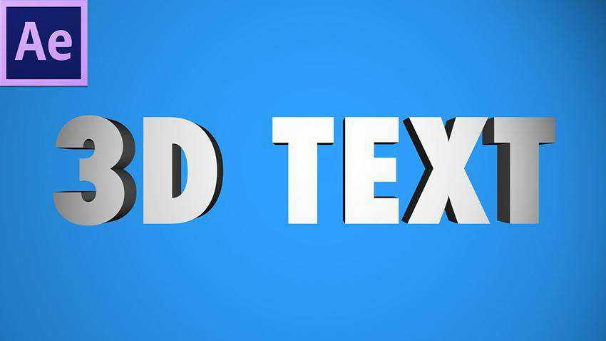 Create 3D TEXT in After Effects Cinema 4D