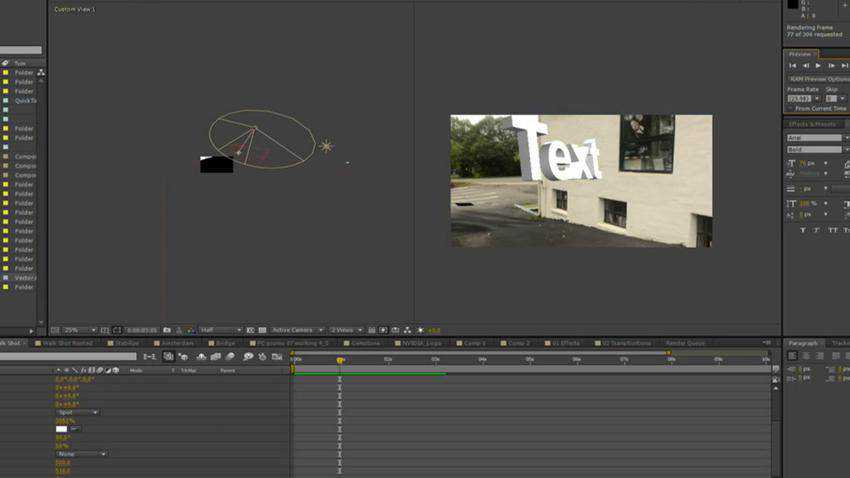Camera Tracking 3D Text Extrusion