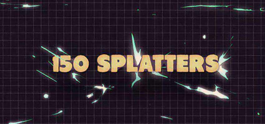 150 Splatter Animations