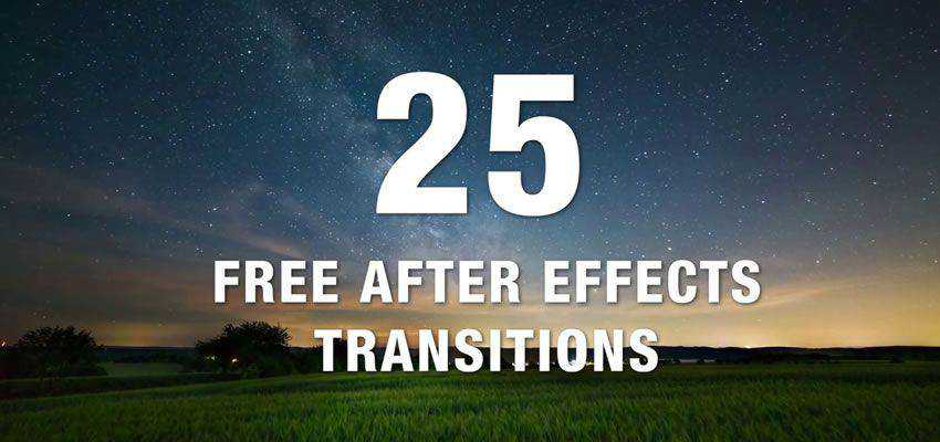 Collection of 25 Free After Effects Transitions