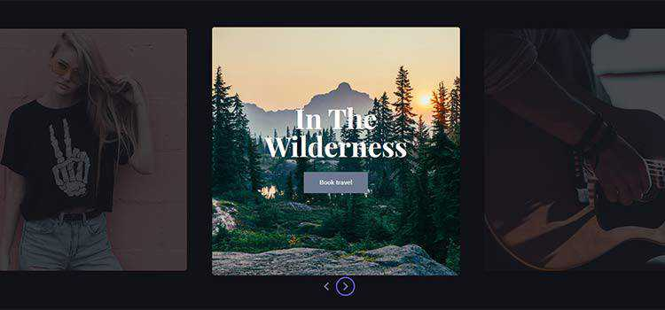 React Slider with Parallax Hover Effects