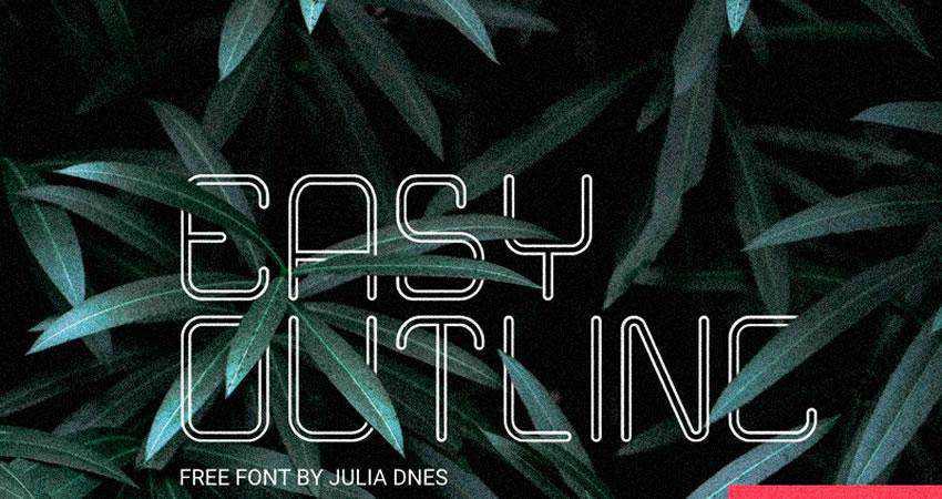 Easy - free outline font family