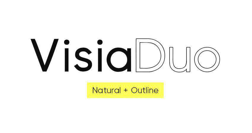 VISIA Duo - free outline font family