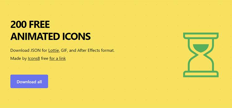 200 Free Animated Icons