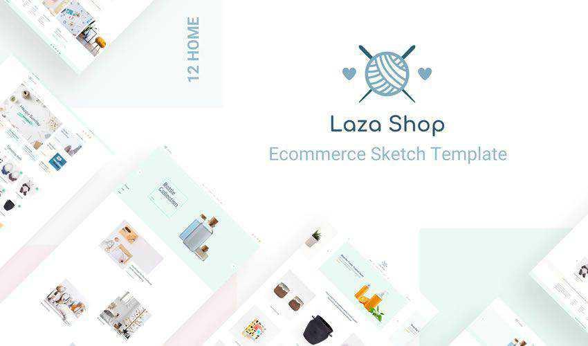 Laza Craft Shop figma ui web layout template