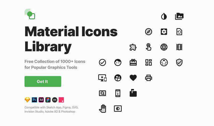 Material Icons free figma ui icon set