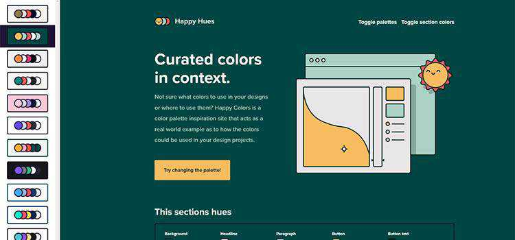 Example from Happy Hues