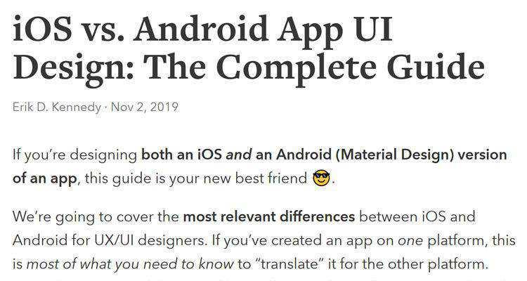 iOS vs. Android App UI Design