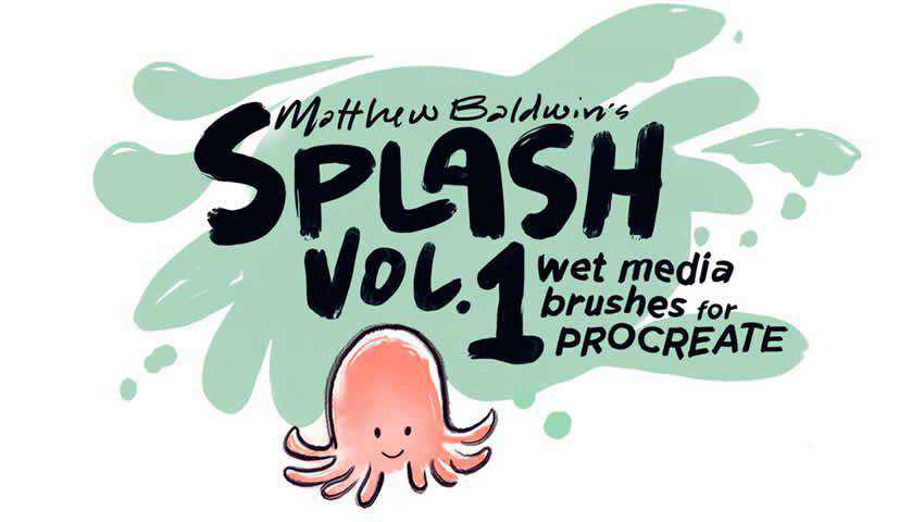 Wet Media Brushes for Procreate