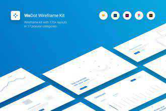 WeDot Wireframe UI Kit