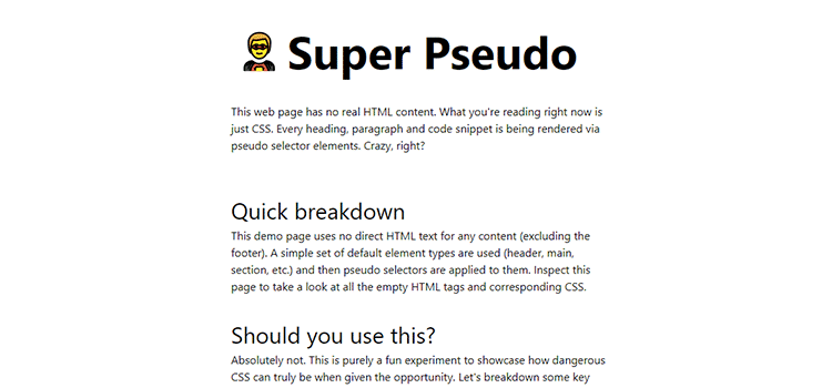 Example from Super Pseudo