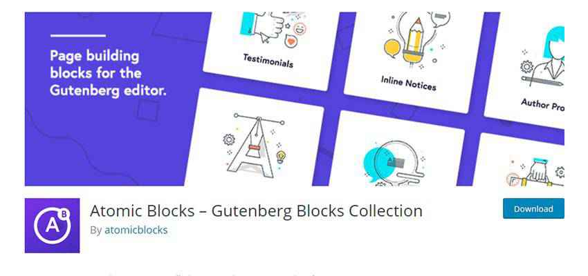 Banner for Atomic Blocks – Gutenberg Blocks Collection