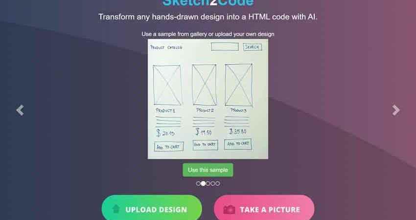 Sketch2Code