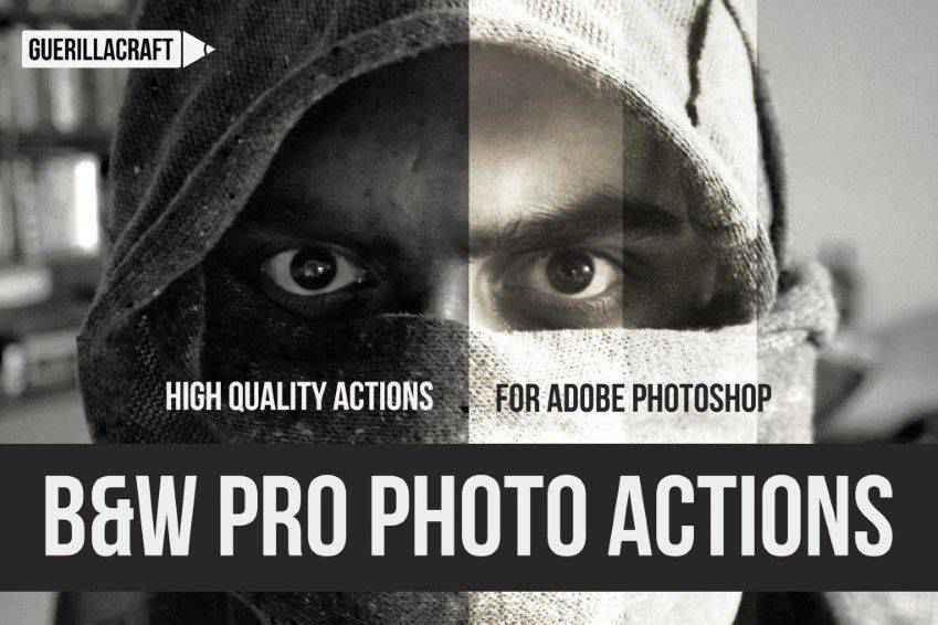 Black White Professional Photoshop Actions