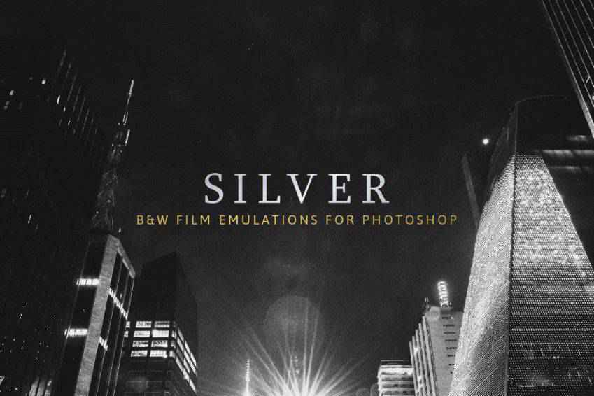 Silver B&W Film Emulation Photoshop Actions