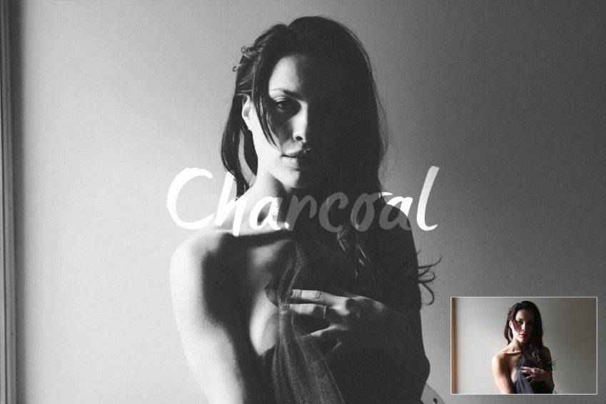 Charcoal Effect Photoshop Action