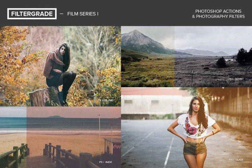 FilterGrade Film Series Photoshop Actions