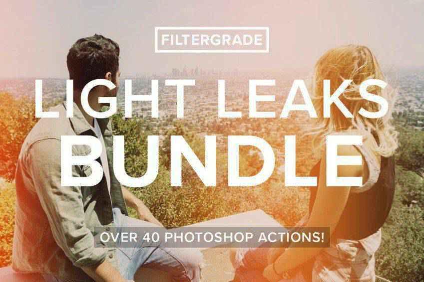 FilterGrade Light Leak Photoshop Actions
