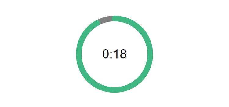 Example from How to Create an Animated Countdown Timer With HTML, CSS and JavaScript