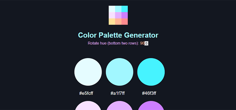 Example from Palette Generator